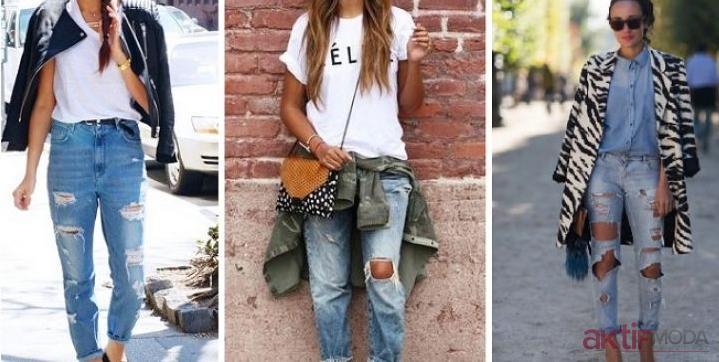 2019 İlkbahar Yırtık Kot Pantolon Modelleri