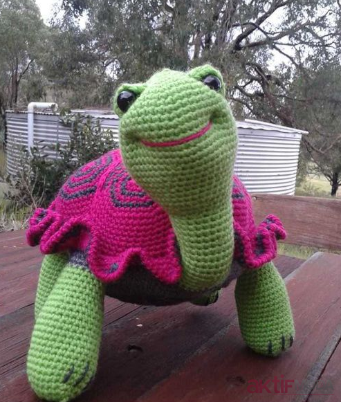 Amigurumi Pembe Kaplumbağa Oyuncak Tarifi