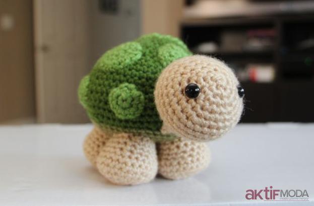 Sevimli Amigurumi Kaplumbağa Oyuncak Tarifi