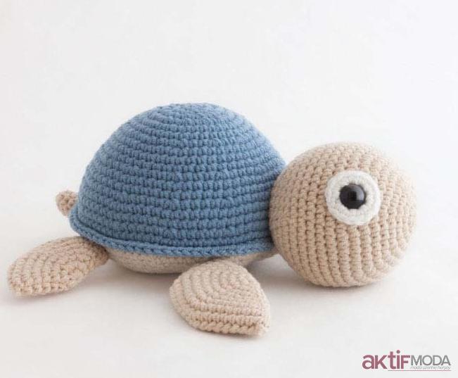 Sevimli Kaplumbağa Amigurumi Oyuncak Modelleri
