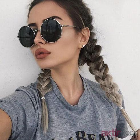 Örgü Saç Modelleri 2019