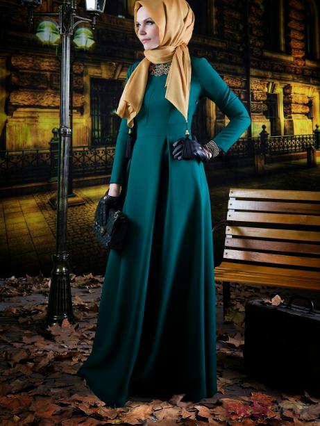 2019 Sonbahar Tesettür Elbise Modası