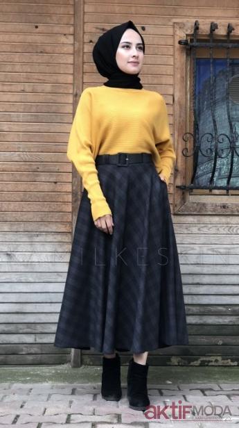 2019 Sonbahar Tesettür Etek Modası