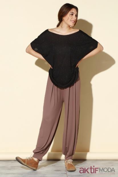 Bej Şalvar Pantolon Modelleri 2019