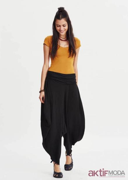 Siyah Şalvar Pantolon Modelleri 2019