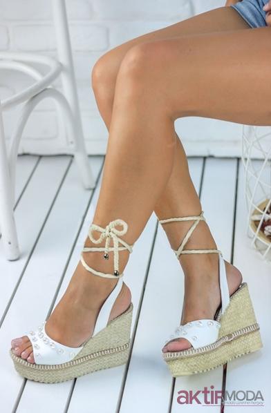 Yazlık Dolgu Topuk Ayakkabı Modelleri 2019