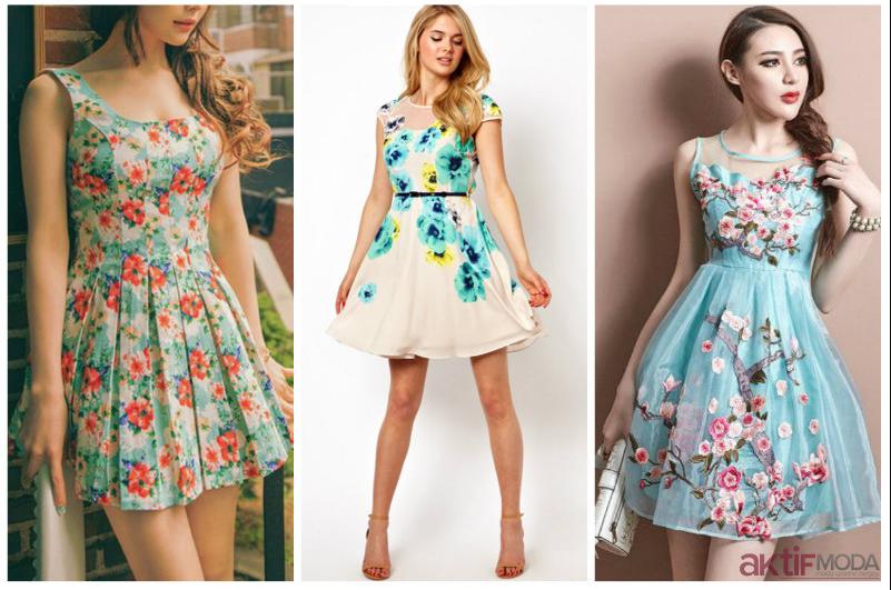 Çiçekli Yazlık Elbise Modelleri 2020