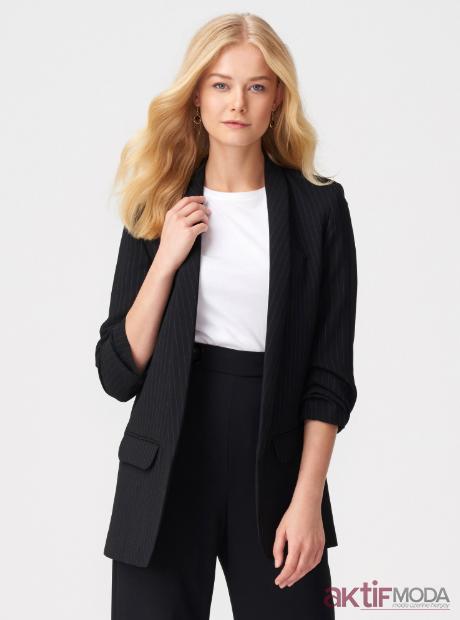 Çizgili Ceket Modelleri 2019