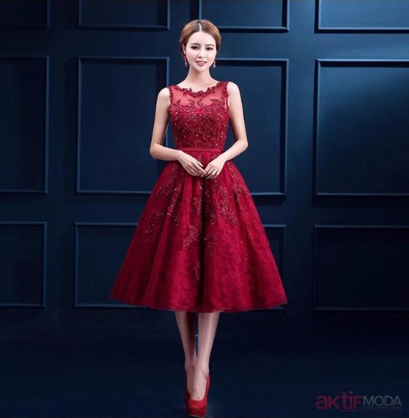 İşlemeli Abiye Elbise Modelleri 2019