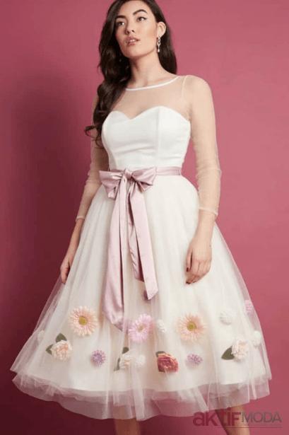 İşlemeli Genç Abiye Modelleri 2019