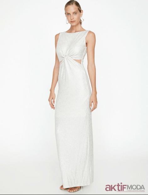 2019 Beyaz Yazlık Abiye Modelleri