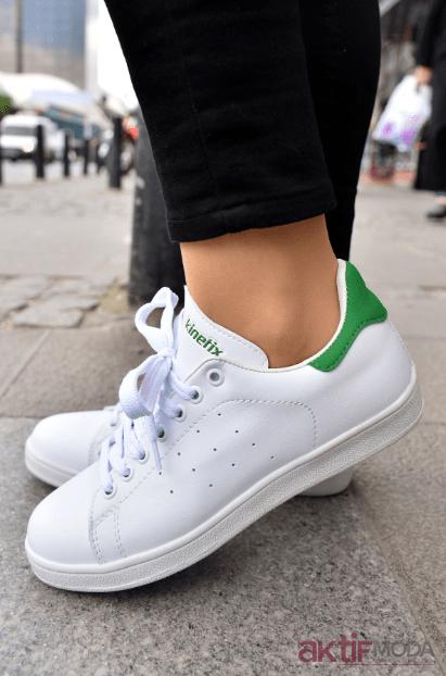 2019 Kadın Beyaz Spor Ayakkabı Modelleri
