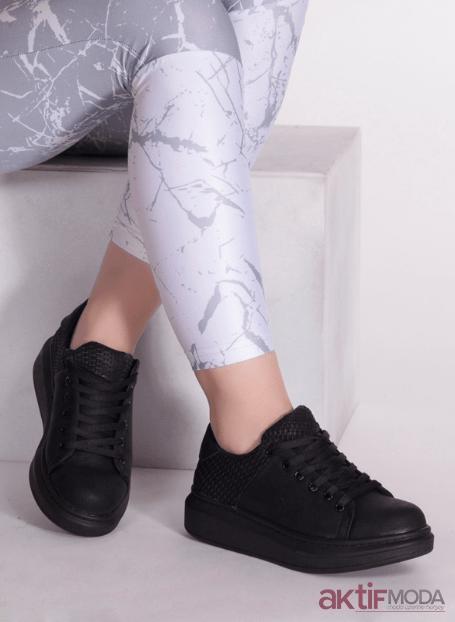 e88fd3c85ac30 2019 Kadın Siyah Spor Ayakkabı Modelleri - Aktif Moda - Aktif Moda
