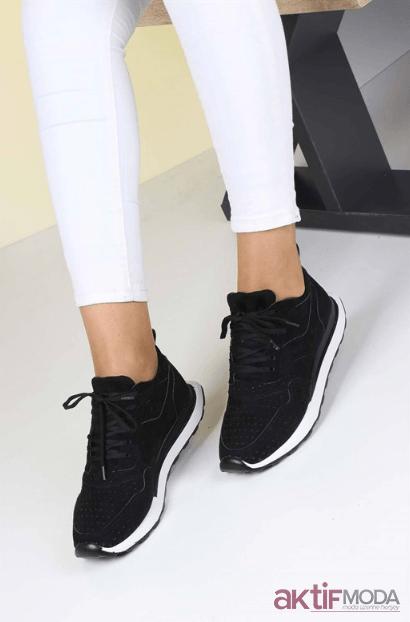 2019 Siyah Kadın Spor Ayakkabı Modelleri