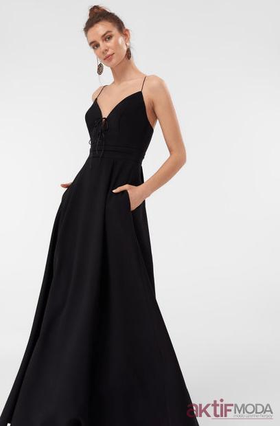 Askılı Abiye Elbise Modelleri 2019