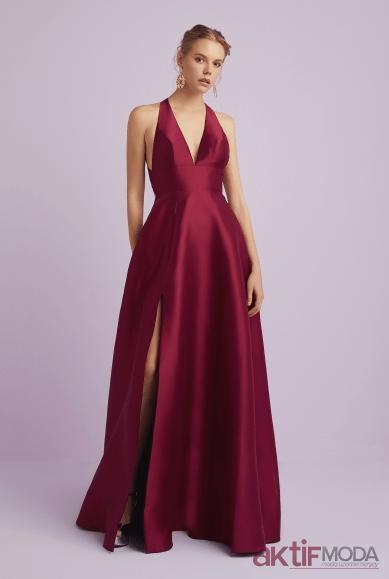 Askılı Saten Elbise Modelleri 2019
