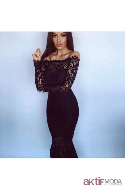 Balık Dantel Abiye Modelleri 2019