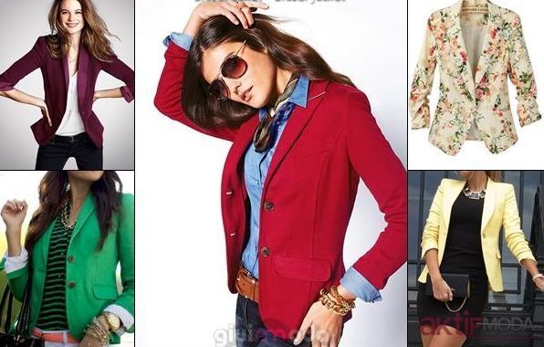 Bayan Renkli Ceket Modelleri 2019