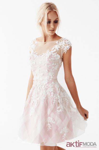Beyaz Genç Abiye Elbise Modelleri 2019