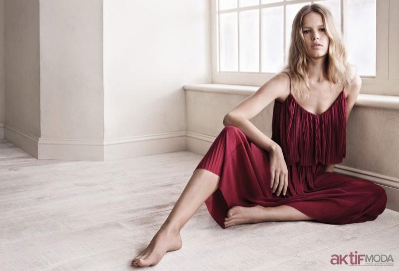 Bordo Mango Yazlık Elbise Modelleri 2019
