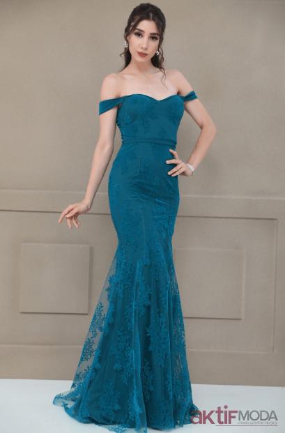 9d5a5d2a77945 Düşük Omuzlu Abiye Elbise Modelleri 2019 - Aktif Moda - Aktif Moda