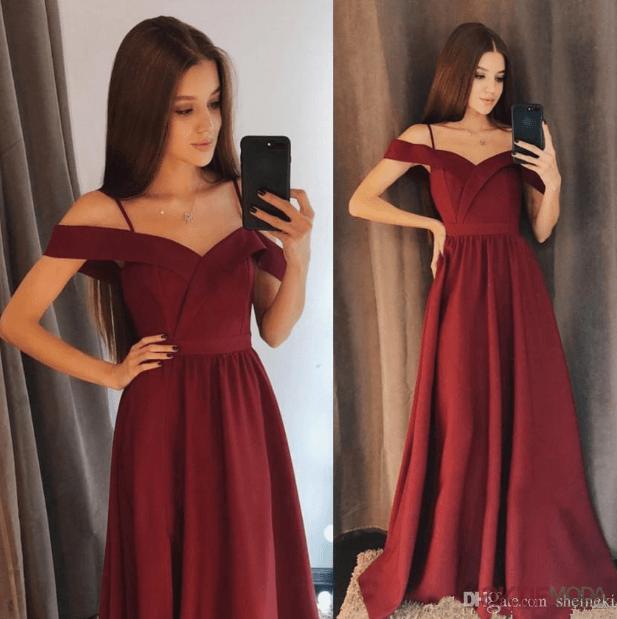 Düşük Omuzlu Genç Abiye Elbise Modelleri 2019