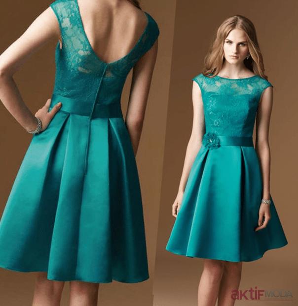 Dantelli Saten Elbise Modelleri 2019