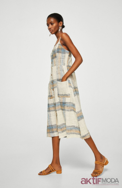 Desenli Mango Elbise Modelleri 2019