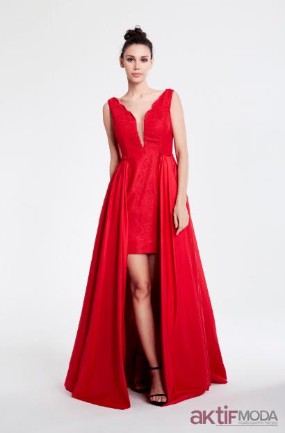 637cb4b6386c4 Kırmızı Abiye Elbise Modelleri 2019 - Aktif Moda - Aktif Moda