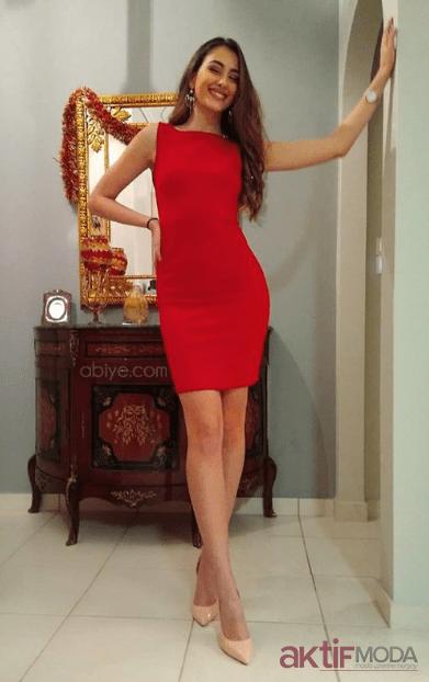 Kırmızı Kalem Abiye Elbise Modelleri 2019