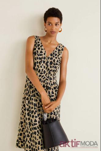 Leopar Desenli Mango Elbise Modelleri 2020