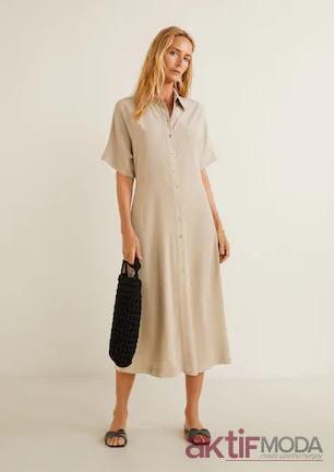 Mango Gömlek Elbise Modelleri 2019