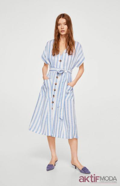 bd07b79e31969 Mango Kısa Kollu Elbise Modelleri 2019 - Aktif Moda - Aktif Moda