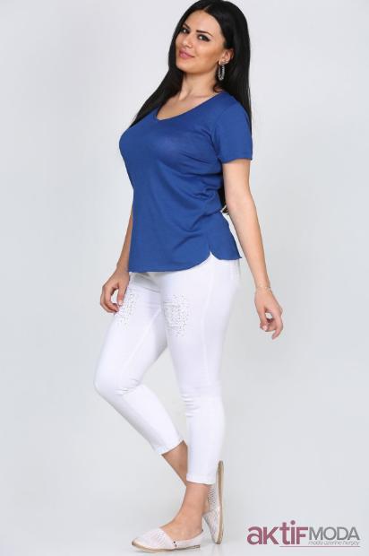 Mango Mavi Bluz Kombinleri 2019
