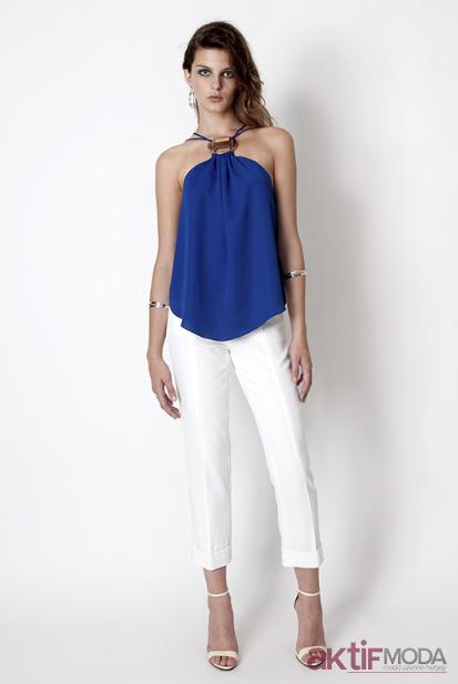 Mango Mavi Bluz Modelleri 2019