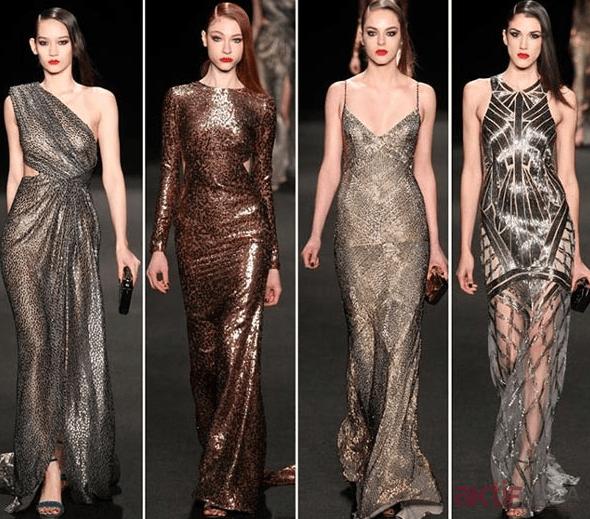 Metalik Abiye Elbise Modelleri 2019