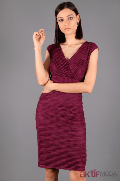 Mor Abiye Elbise Modelleri 2019