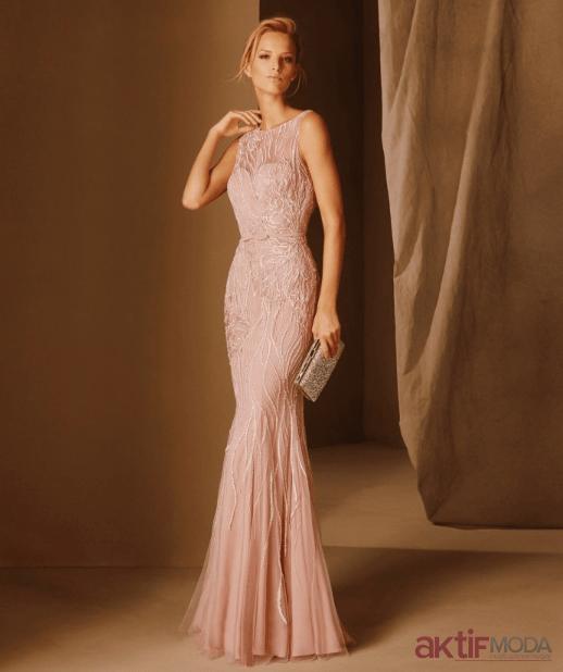 Pembe Abiye Elbise Modelleri 2020