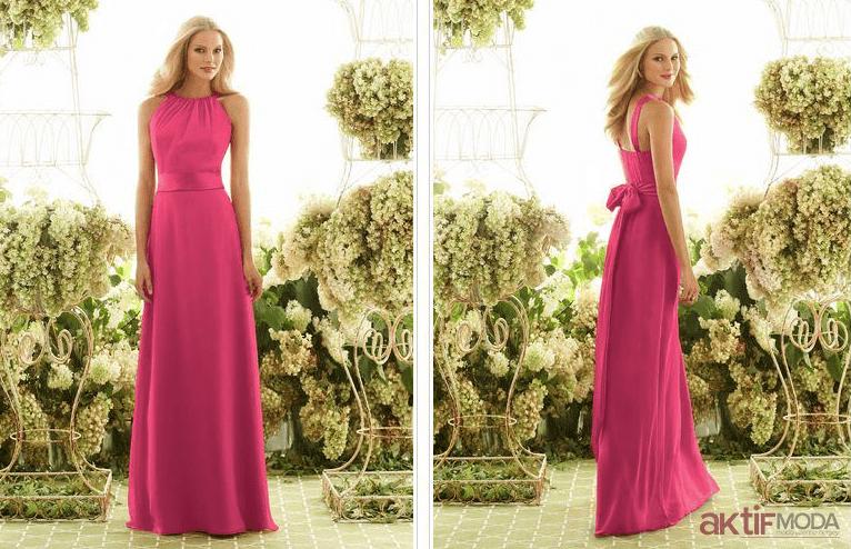 Pembe Yazlık Abiye Elbise Modelleri 2019