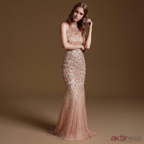 Taşlı Abiye Elbise Modelleri 2020
