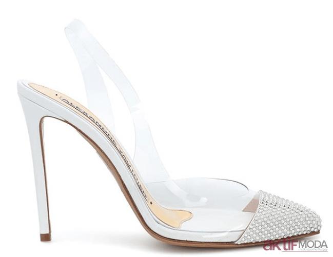 Taşlı Yazlık Şeffaf Ayakkabı Modelleri 2019