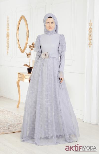 Tesettür İlkbahar Düğün Elbiseleri 2019