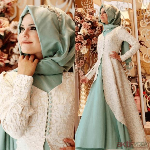 Tesettür Abiye Elbise Modelleri 2019