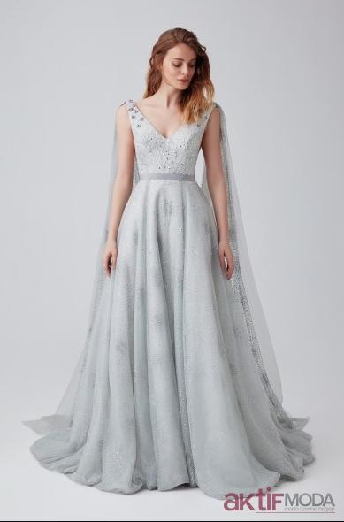 Tul İşlemeli Elbise Modelleri 2019