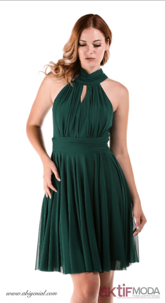 Yeşil Genç Abiye Elbise Modelleri 2020