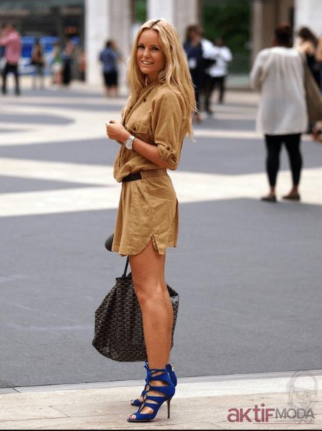 2019 Hardal Gömlek Elbise Modelleri