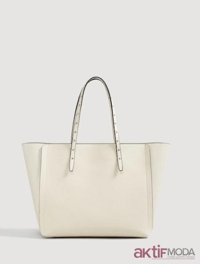 Beyaz Büyük Çanta Modelleri 2019