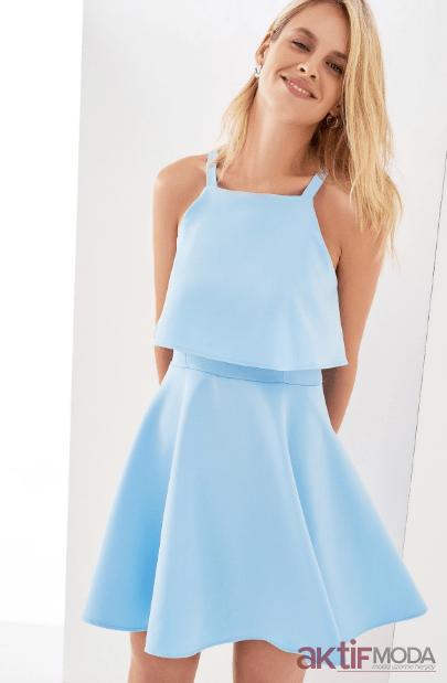 Mavi Yaz Düğün Elbiseleri 2019