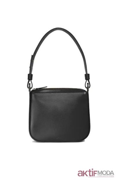 Siyah Deri Çanta Modelleri 2019