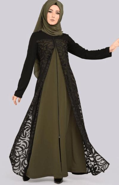 Dantelli Şal Elbise Kombinleri